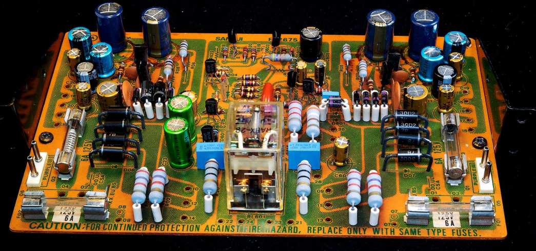 Top of Power Supply and Protector Circuit PCB