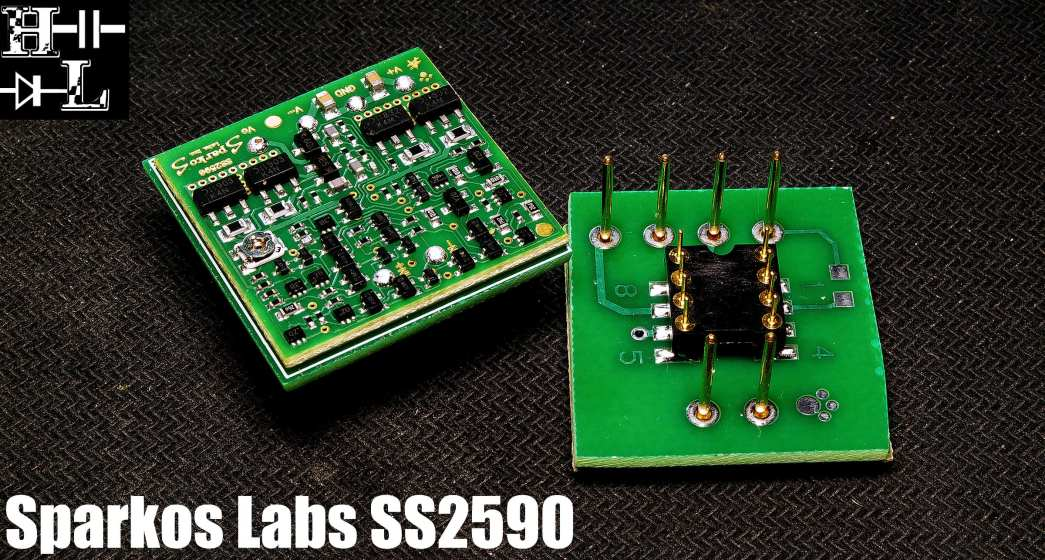 Sparkos Labs SS2950 discrete op-amp pictured by Hallman Labs