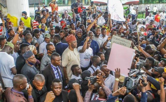 Protesters in Ibadan