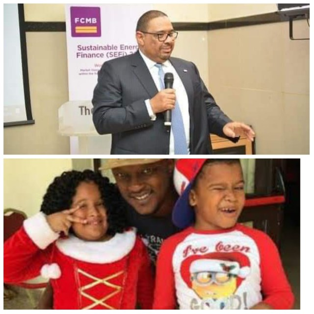Adam Nuru, FCMB MD; Tunde Thomas & children