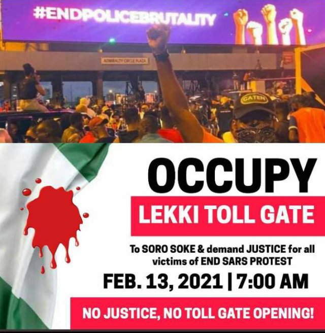 Protesters to occupy Lekki tollgate on Saturday