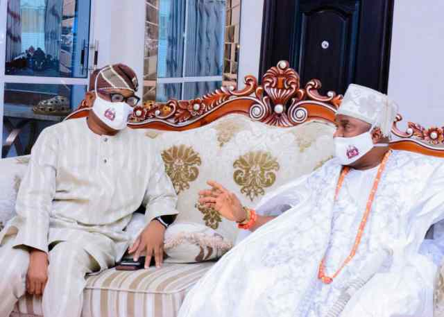 Bola Oyebamiji and Oba Kayode Adenekan Afolabi