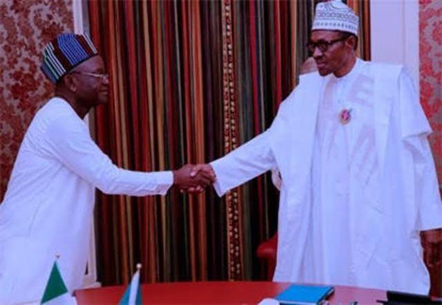 Samuel Ortom and Muhammadu Buhari