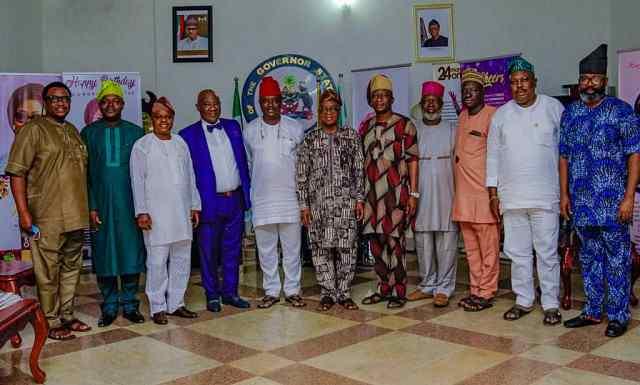Opomulero drums support for Gboyega Oyetola