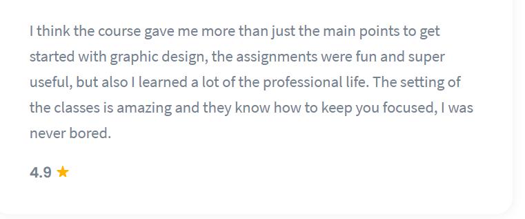 Shaw Academy Design Course Reviews - 4.9 stars