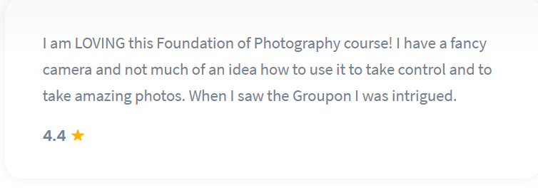 Shaw Academy Photography Review - 4.4 stars