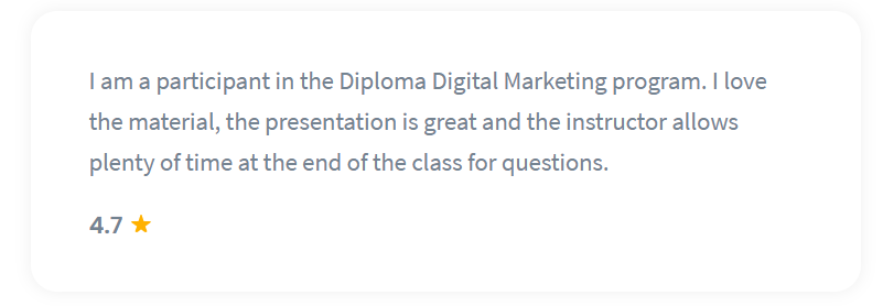 Shaw Academy Marketing Course Reviews - 4.7 stars