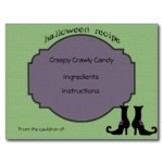 Halloween Recipe Cards