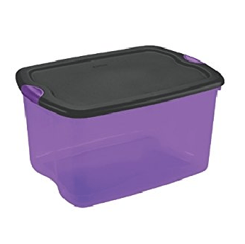 Halloween Storage Box - Purple & Black