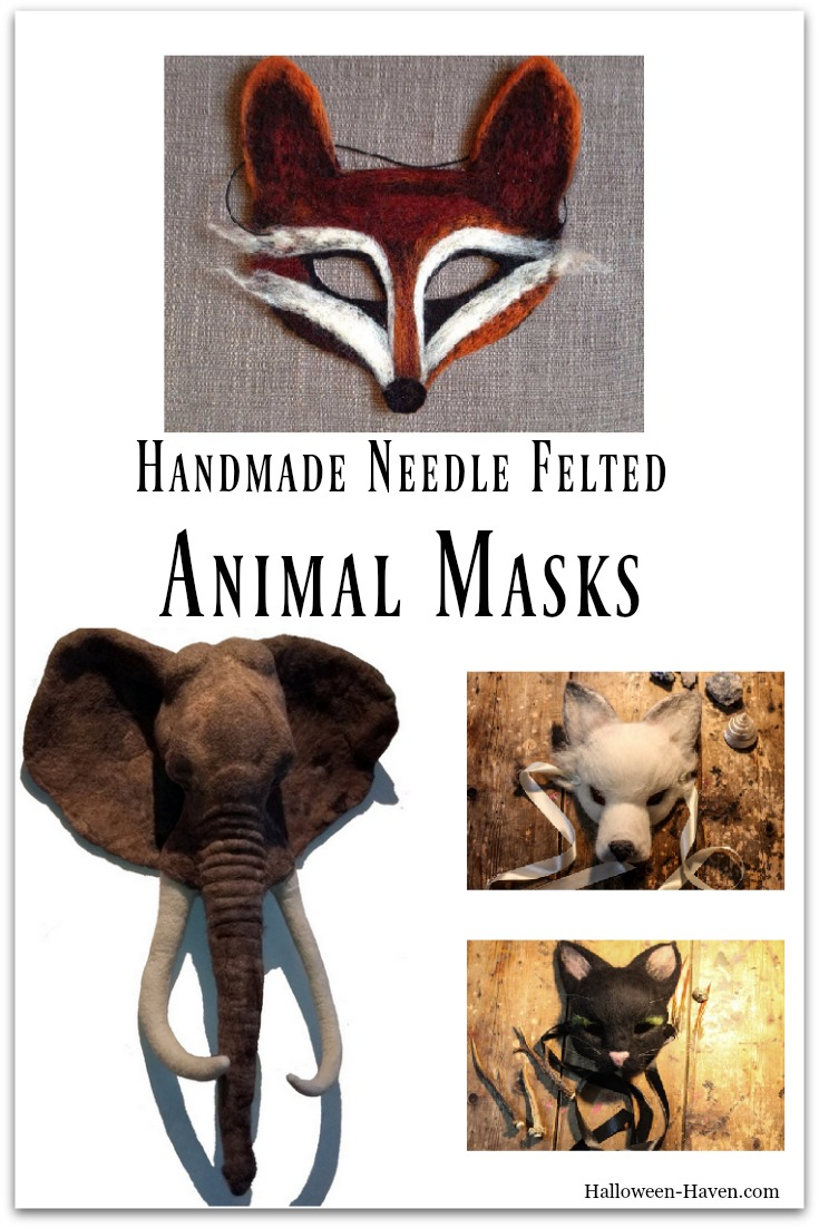 Handmade Needle Felted Animal Masks
