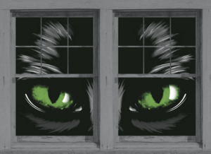 Scary Window Posters for Halloween