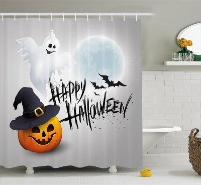 Halloween Bathroom Decor: Shower Curtains