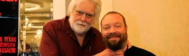 Gunnar Hansen with Halloween Daily News Editor in Chief Matt Artz