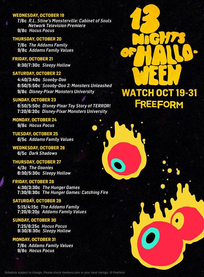 13-nights-of-halloween-2016-schedule