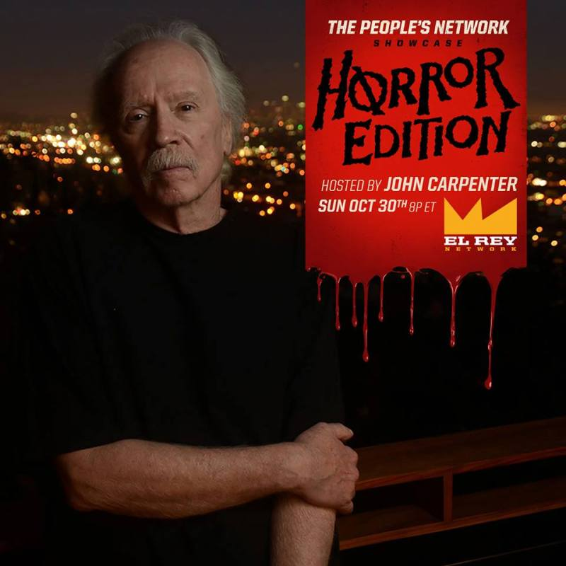 John Carpenter hosts 'The People's Network Showcase: Horror Edition' on El Rey Network.