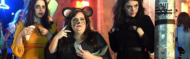 "SATURDAY NIGHT LIVE -- ""Tom Hanks"" Episode 1708 -- Pictured: (l-r) Vanessa Bayer, Aidy Bryant, and Cecily Strong during the ""A Girl's Halloween"" sketch on October 22, 2016 -- (Photo by: Caroline De Quesada/NBC)"