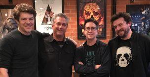 Team 'Halloween', Jason Blum, Malek Akkad, David Gordon Green, and Danny McBride.