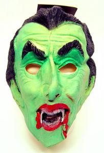 Rubber Dracula mask by Ben Cooper.