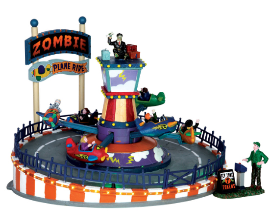 lemax-spooky-town-halloween-village-2017-zombie-plane-ride
