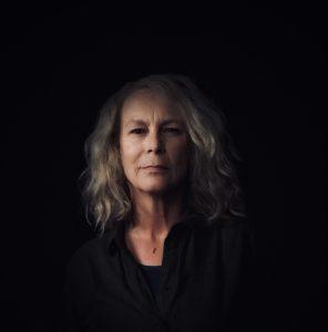 Jamie Lee Curtis - set self portrait as Laurie Strode