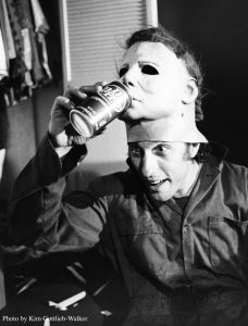 Nick Castle on the set of 'Halloween'. (Photo by Kim Gottlieb-Walker)