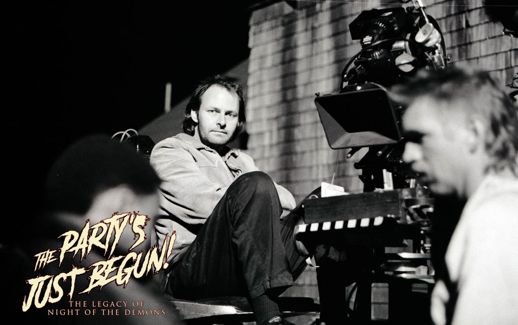 Director Kevin Tenney on the set of 'Night of the Demons', courtesy of the documentary 'The Party's Just Begun: The Legacy of Night of the Demons'.