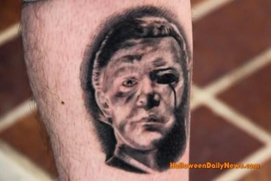 Eric Crimmons' tattoo of an original design by David Burk