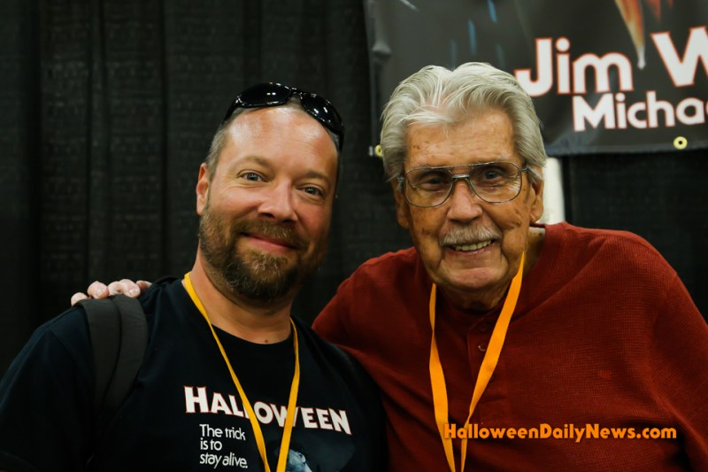 HDN's Matt Artz with Jim Winburn at H40: Forty Years of Terror (photo by Sue Artz for Halloween Daily News)