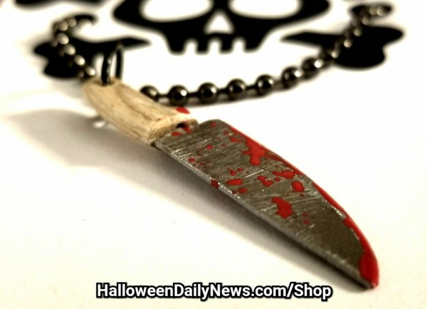 Bloody Butcher Knife Pendant by Skull Soup