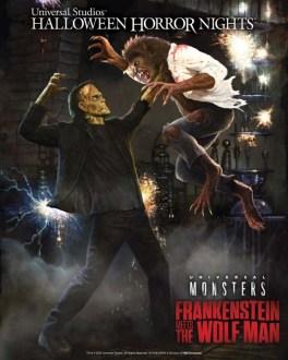 Frankenstein Meets The Wolfman - Universal Halloween Horror Nights 2019
