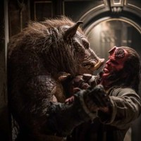 Douglas Tait and David Harbour star in 'Hellboy'.
