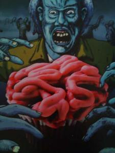 brains cupcake