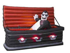 inflatable vampire coffin