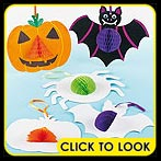 3d halloween shapes decorations