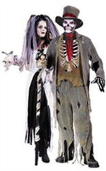 fancy dress halloween bride and groom