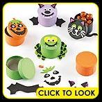 halloween crafts gift box yellow moon
