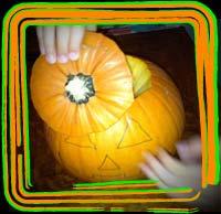 opening pumpkin
