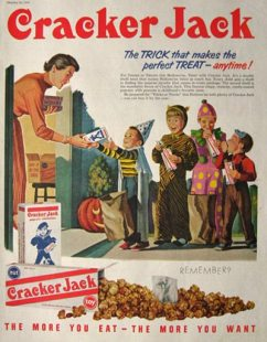 cracker jack halloween advert