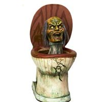 zombie head toilet halloween prop