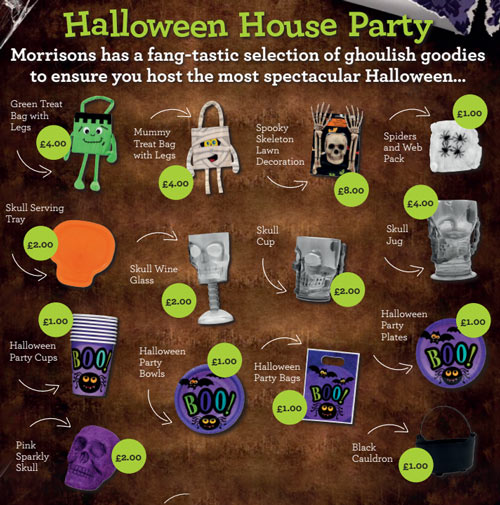 Morrisons Halloween 2015 decorations