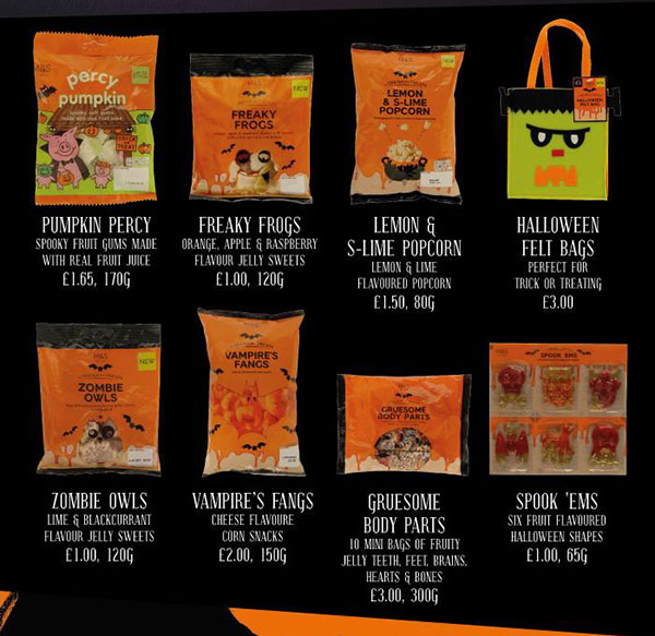 Marks and Spencer Halloween treats and sweets