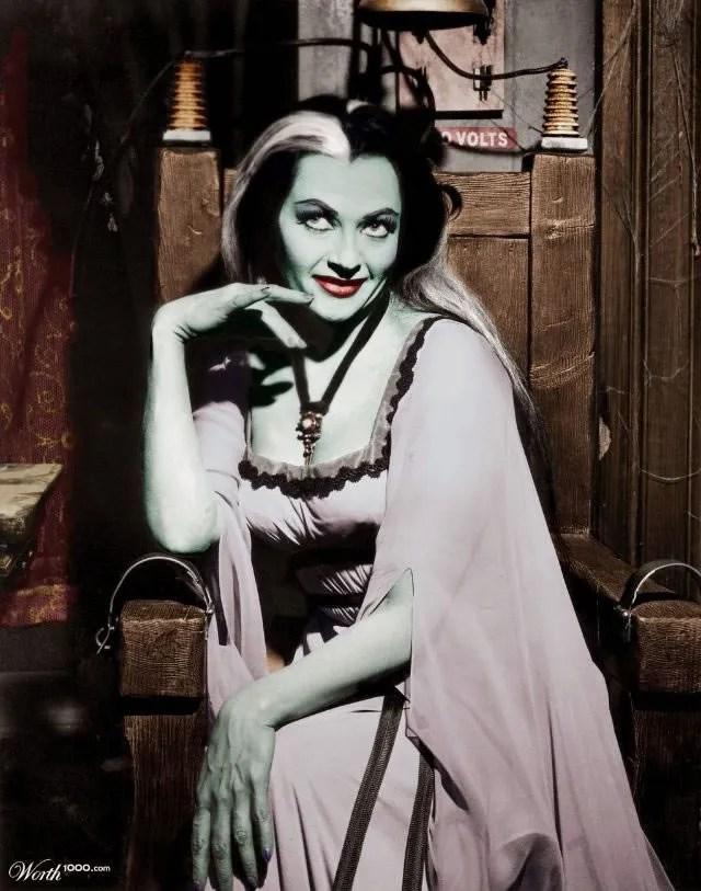? Amazing Color Photos of Lily Munster, Yvonne De Carlo 3