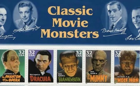 Classic Movie Monsters Stamps