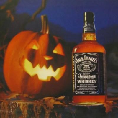 jack daniels classic Halloween ad, jack-o-lantern, pumpkin