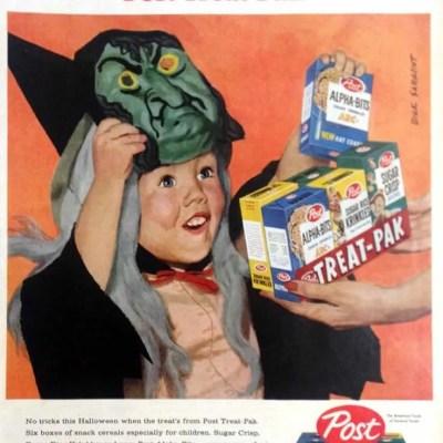 Post cereal classic Halloween ad, jack-o-lantern, pumpkin