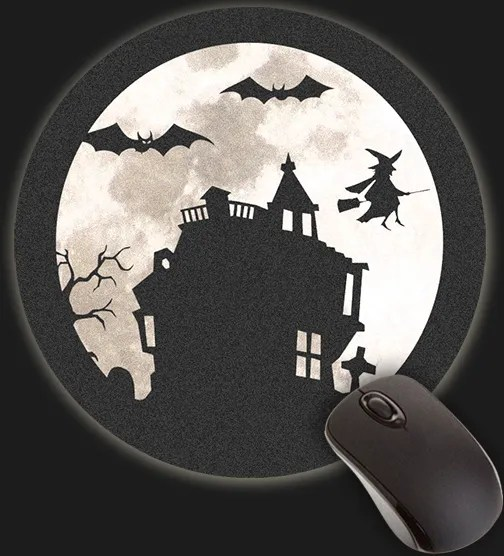 Halloween Forever Haunted House Mouse Pad