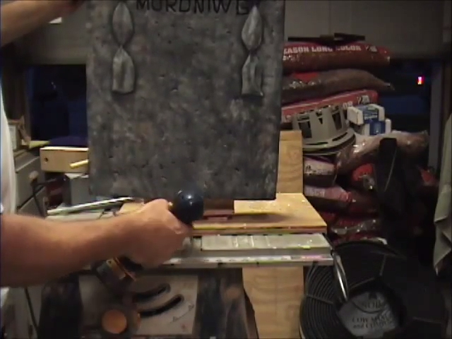 Moving Halloween Tombstone Prop Secure Base With Wood Screws