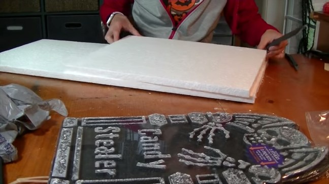 Upgrade Your Cheap Dollar Store Halloween Tombstones With Foam Insulation