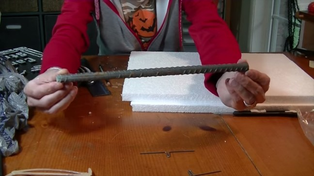 Upgrade Your Cheap Dollar Store Halloween Tombstones Secured with Rebar