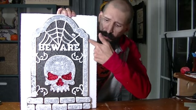 Upgrade Your Cheap Dollar Store Halloween Tombstones By Cutting Edges